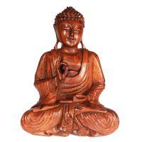 Soška Buddha dřevo 32 cm