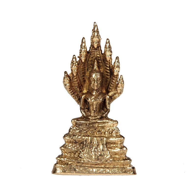 Soška Buddha kov mini 3,5 cm Indie