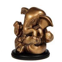 Soška Ganéša resin 07 cm zlatý Čína