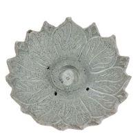 Stojánek na vonné tyčinky a kužílky kamenný - lotos Indie