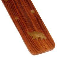 Stojánek na vonné tyčinky dřevěný - lyže Slon Indie