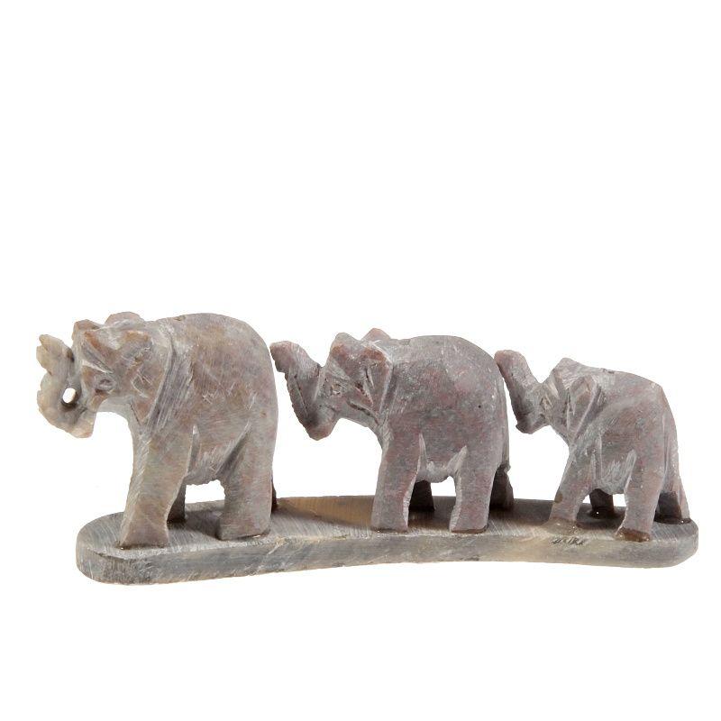 Stojánek na vonné tyčinky kamenný - sloni v řadě Indie