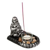 Svícen břichatý buddha Hotei na čajovou svíčku Čína