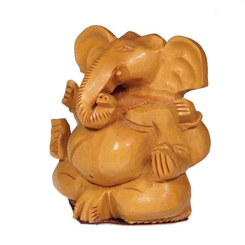 Soška Ganéša (Ganesh) dřevo 07 cm Indie