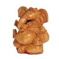 Soška Ganéša (Ganesh) dřevo 08 cm Indie