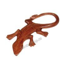 Soška Ještěrka dřevo 22 cm