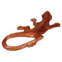 Soška Ještěrka dřevo 22 cm Indonésie