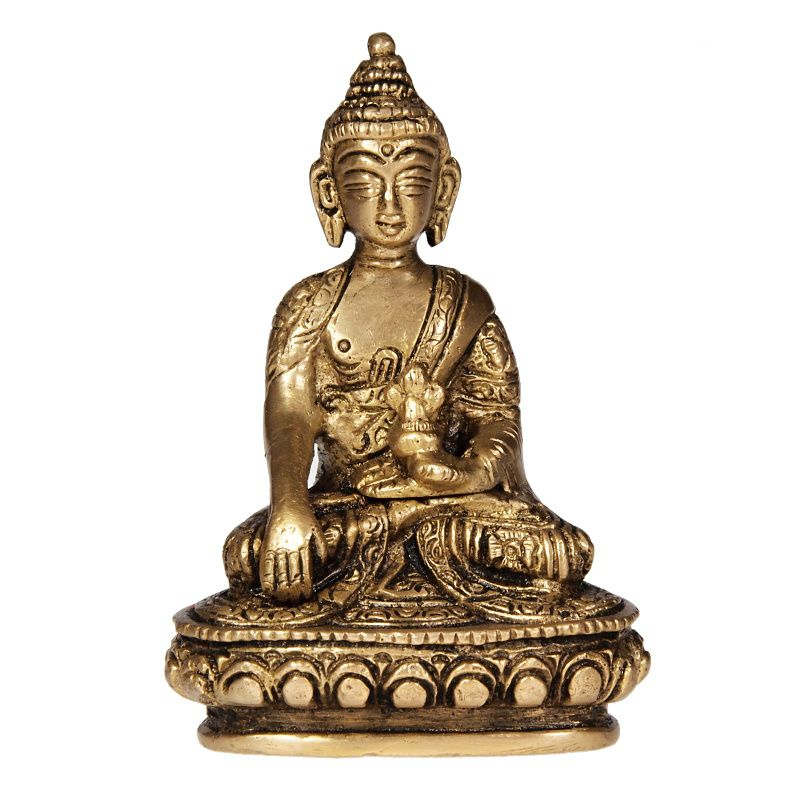 Soška Buddha kov 10 cm II Indie