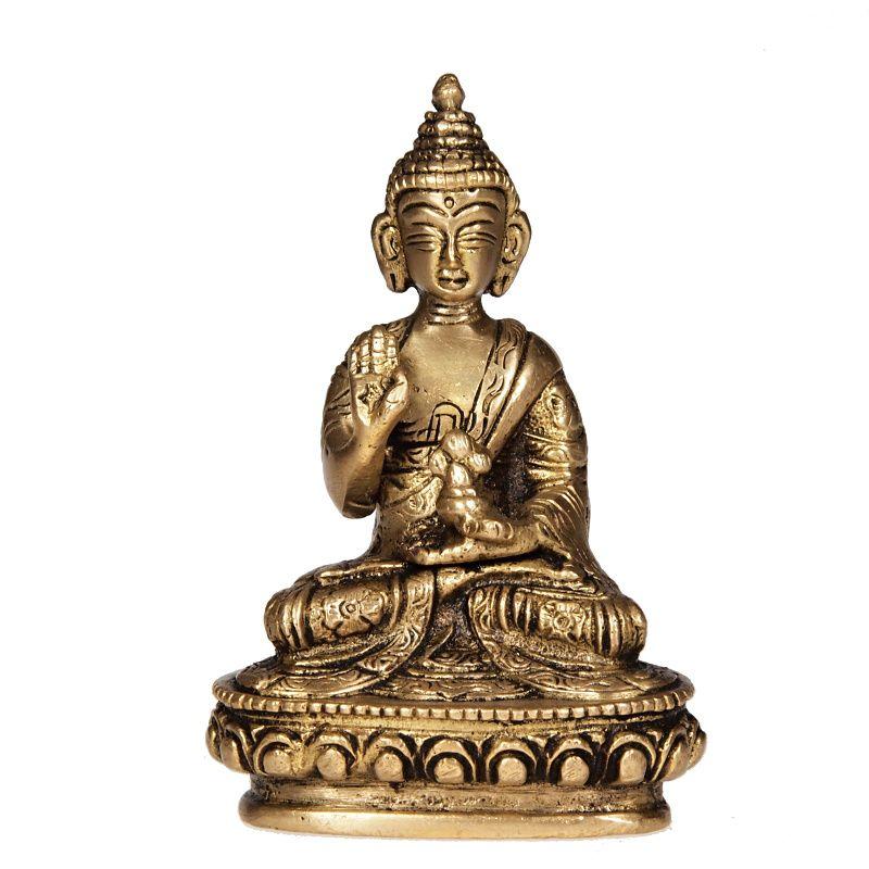 Soška Buddha kov 10 cm III Indie