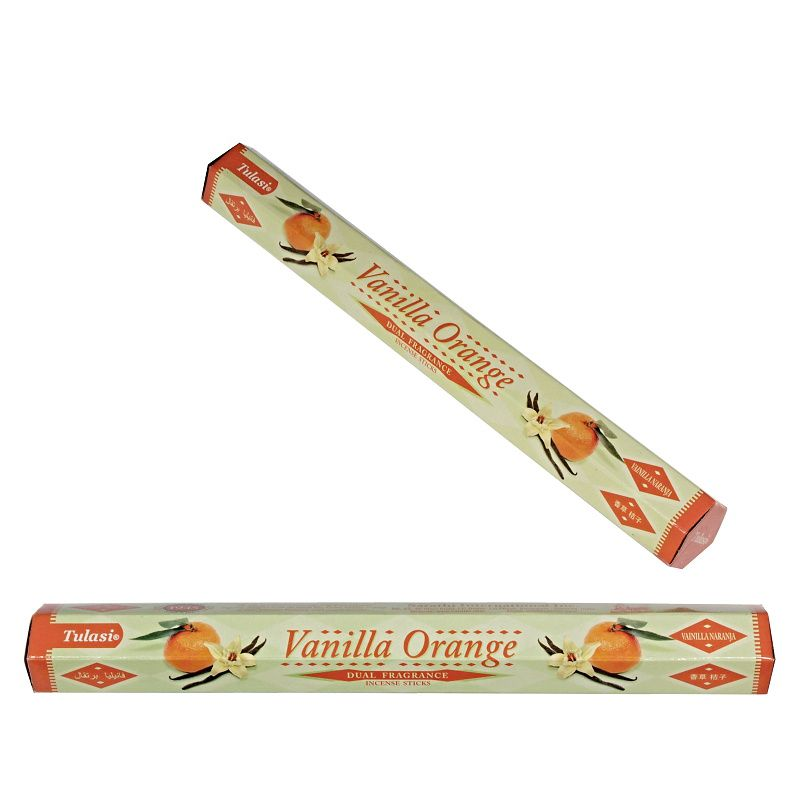 Tulasi Dual Vanilla Orange indické vonné tyčinky 20 ks