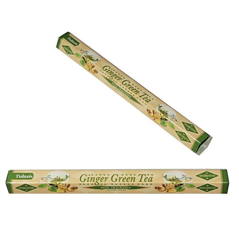 Vonné tyčinky Tulasi Dual Zázvor Zelený čaj - Ginger Green tea