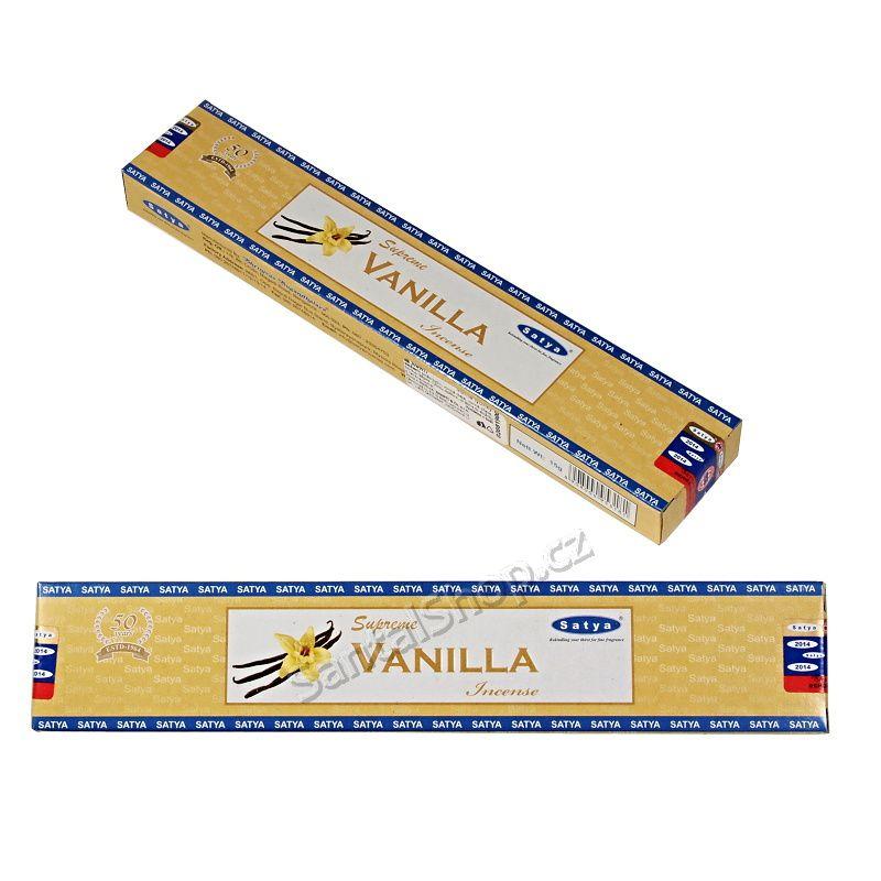 Indické vonné tyčinky Shrinivas Satya Supreme Vanilla
