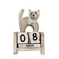 Kalendář Kočka stojící 11 cm bílá
