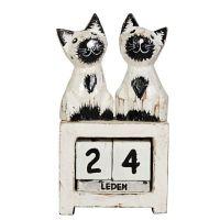 Kalendář Kočky bílé stojící 13 cm
