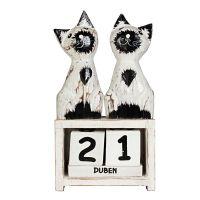 Kalendář Kočky bílé stojící 20 cm