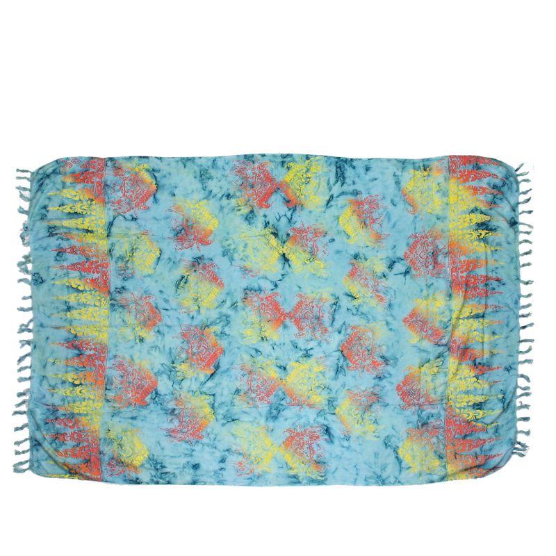 Plážový šátek sarong, pareo Barong tyrkysový
