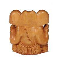 Soška Ganesh dřevo 8 cm