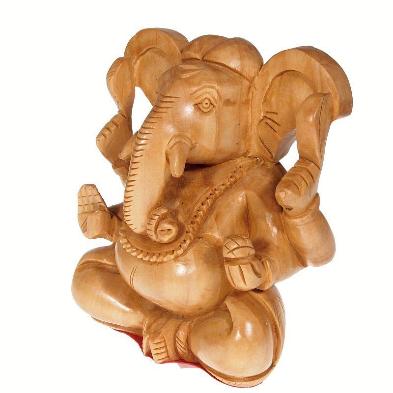 Soška Ganéša (Ganesh) dřevo 13 cm II Indie