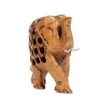 Soška Slon dřevo 7 cm prořezávaný