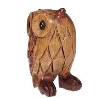 Soška Sova dřevěná 11 cm