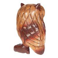 Soška dřevěná Sova 18 cm Thajsko