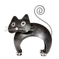 Soška kovová Kočka oblouková 15 cm Indonesie