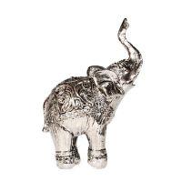 Soška Slon resin 14 cm s chobotem nahoru