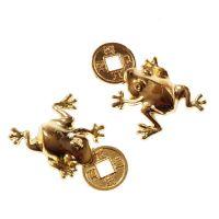 Žába s čínskou mincí zlatá