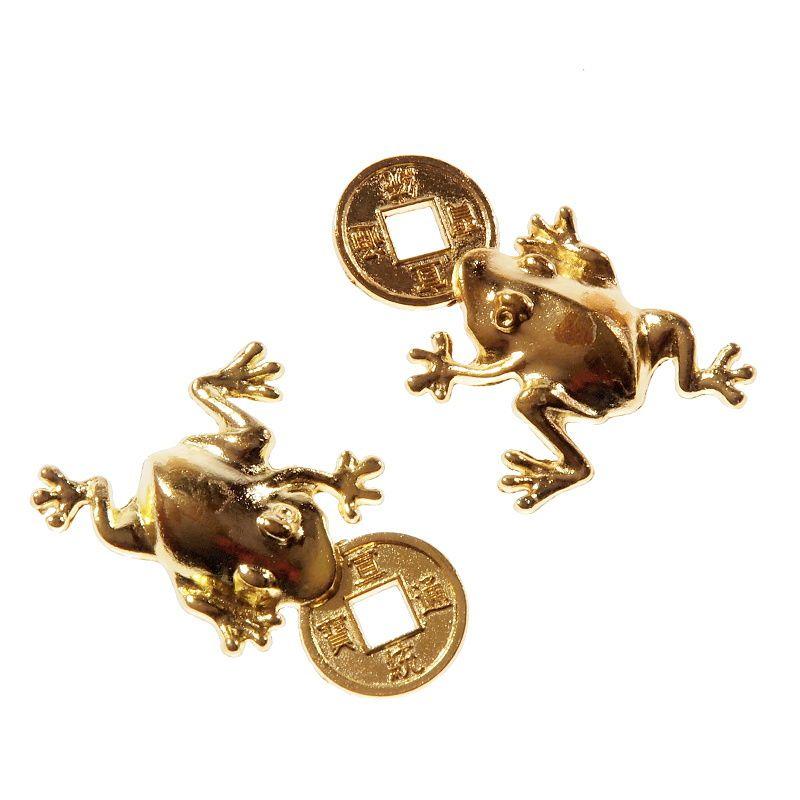 Žába s čínskou mincí zlatá 35 mm