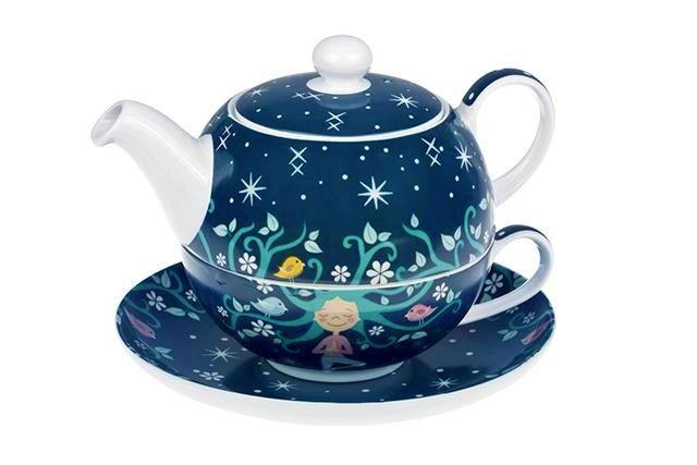 Čajová souprava Meditace - tea for one porcelánová Oxalis