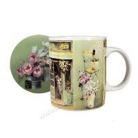 Hrnek s podtáckem Fleuriste 350 ml porcelánový Casa de Engel
