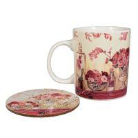 Hrnek s podtáckem Rose 350 ml porcelánový Casa de Engel