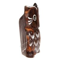 Soška dřevěná Sova hnědá 7 cm II Indonesie