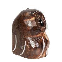 Soška dřevěná Sova hnědá řezba 8,5 cm Indonesie
