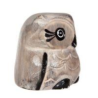 Soška dřevěná Sova šedá 7 cm Indonesie