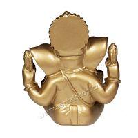 Soška Ganéša resin 12 cm zlatý Čína