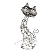 Soška Kočka kov proplétaná 26 cm