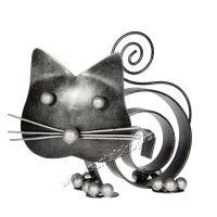 Soška Kočka kov spirála 10 cm
