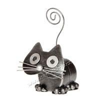 Soška Kočka kov váleček 11 cm