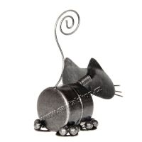 Soška Kočka kov váleček 11 cm Indonesie