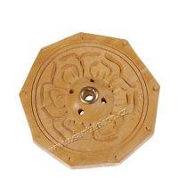Stojánek na vonné tyčinky dřevěný - Lotos 6,5 cm Nepál
