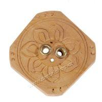 Stojánek na vonné tyčinky dřevěný - Lotos 5,5 cm Nepál