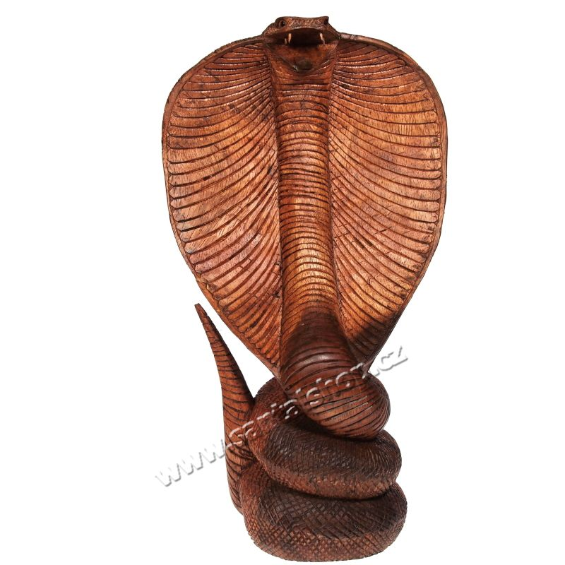 Soška Kobra dřevo 41 cm Indonesie