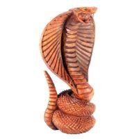 Soška Kobra dřevo 17 cm