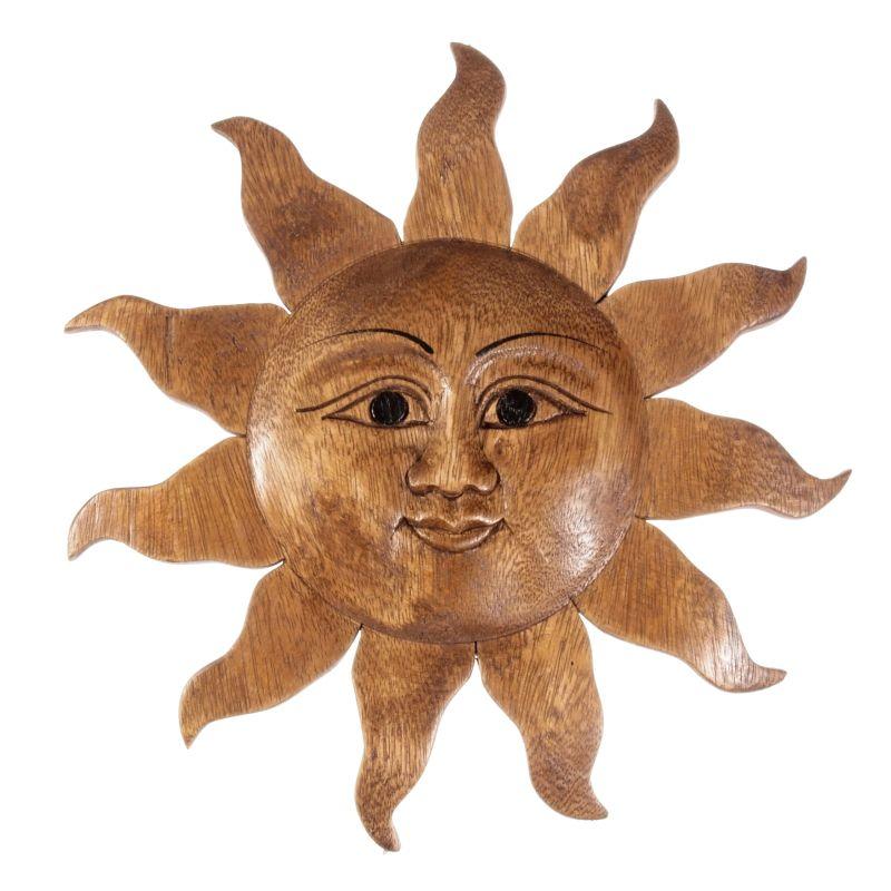 Dekorace na stěnu Slunce dřevo 50 cm Thajsko