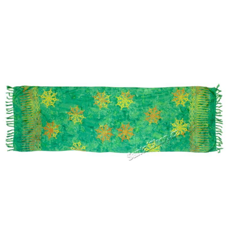 Plážový šátek 1/2 sarong, pareo Vločka zelený
