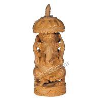 Soška Ganéša dřevo 12 cm