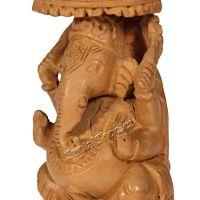 Soška Ganéša (Ganesh) dřevo 12 cm Indie