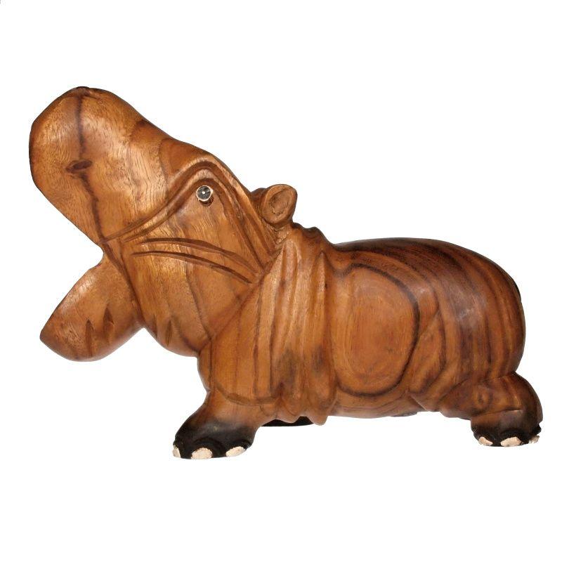 Soška Hroch dřevo 27 cm Thajsko