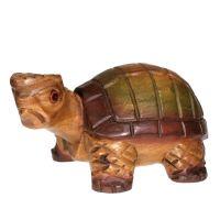 Soška Želva dřevo 24 cm Thajsko